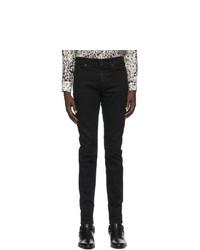 Saint Laurent Black Skinny Mid Rise Jeans