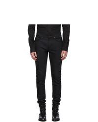 Saint Laurent Black Skinny Raw Jeans