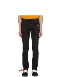 Off-White Black Skinny Regular Length Jeans