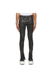 Rick Owens DRKSHDW Black Slit Tyrone Jeans