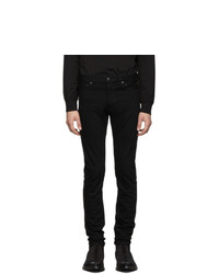 TAKAHIROMIYASHITA TheSoloist. Black Stretch Slim Tapered Jeans