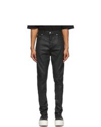 Rick Owens DRKSHDW Black Wax Detroit Jeans