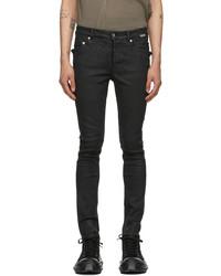 Rick Owens DRKSHDW Black Wax New Tyrone Cut Jeans