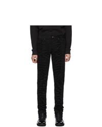 Saint Laurent Black Zebra Skinny Jeans