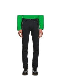 Sankuanz Black Zip Skinny Jeans