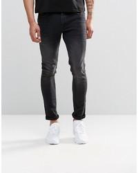 Asos Brand Super Skinny Jeans In 125oz Washed Black