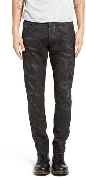 316f5f94250227 Diesel Tepphar Coated Skinny Fit Jeans, $348   Nordstrom   Lookastic.com