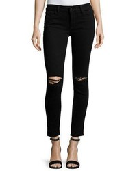 DL1961 Premium Denim Margaux Instasculpt Skinny Ankle Jeans With Ripped Knees Rattlesnake
