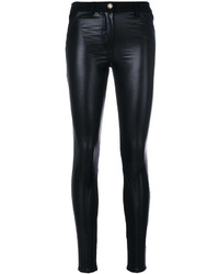 Versace Eco Leather Skinny Jeans