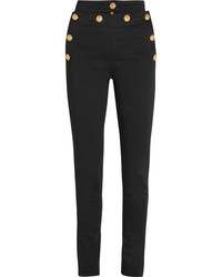 Balmain High Rise Skinny Jeans Black