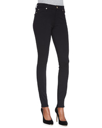 7 For All Mankind High Waist Doubleknit Skinny Jeans Black