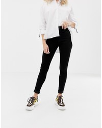 Only High Waist Skinny Jean In Black