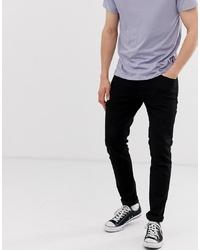 Jack & Jones Intelligence Tapered Slim Fit Jeans In Black