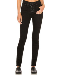 Rag & Bone Jean Lace Up High Rise Skinny