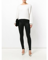 Hudson Lace Up Front Skinny Jeans