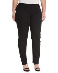 Lafayette New York 148 Plus Five Pocket Skinny Jeans Black Plus Size