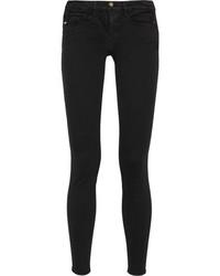 Frame Le Skinny De Jeanne Mid Rise Jeans Black