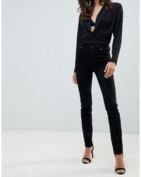 Morgan Low Waist Skinny Jean In Black
