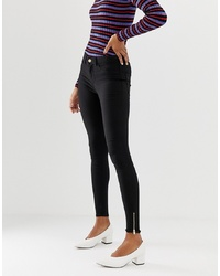 Pieces Lula Ankle Zip Skinny Jeans