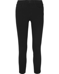 L'Agence Margot Cropped High Rise Skinny Jeans