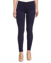 Joe's Jeans Mid Rise Skinny Stretch Twill Pants Black Iris