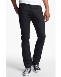 Naked & Famous Denim Skinny Guy Skinny Fit Jeans Black Power Stretch 28