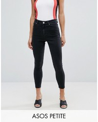 Asos Petite Petite Ridley Skinny Jean In Washed Black