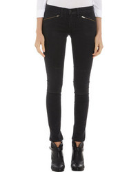 Rag and Bone Rag Bone Ridley Moto Pants Wax Black