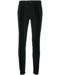 Ruffle trimmed skinny jeans medium 5145772