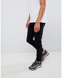 Scotch & Soda Scotch And Soda Skim Skinny Fit Black Jeans