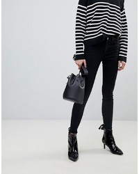 Pieces Skinny Jeans With Lace Up Back Detail