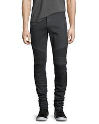 Balmain Skinny Moto Zip Pocket Jeans