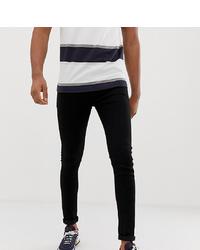 ASOS DESIGN Tall Spray On Jeans In Power Stretch Denim In Black
