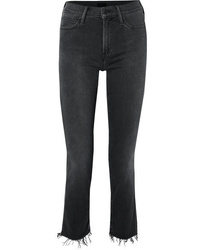 Mother The Rascal Ankle Snippet Distressed Mid Rise Skinny Jeans