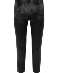 Ann Demeulemeester Cropped Satin Slim Leg Pants