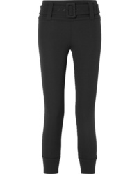 Prada Cropped Tech Jersey Straight Leg Pants
