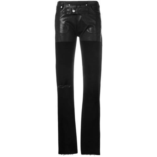 Alyx Dual Textured Raw Hem Skinny Jeans