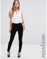 Asos Petite Petite High Waist Pants In Skinny Fit