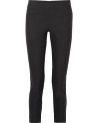 Lela Rose Stretch Twill Skinny Pants Black