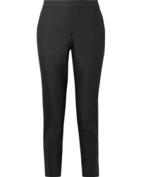 Theory Thaniel Cropped Stretch Cotton Blend Twill Slim Leg Pants