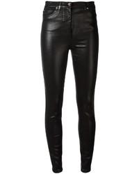 Versace Bimaterial Skinny Trousers