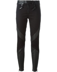 Versace Skinny Diagonal Panel Trousers