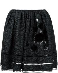 Fendi Appliqu Short Skirt