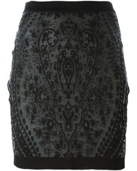 Balmain Jacquard Detail Short Skirt