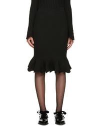 Lanvin Black Ribbed Skirt