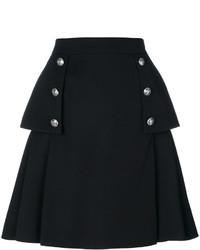 Alexander McQueen Buttoned A Line Skirt