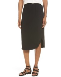 Eileen Fisher Jersey Shirttail Hem Skirt