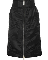 Sacai Ma 1 Satin Trimmed Shell Skirt Black