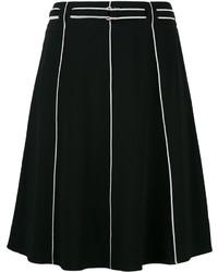 Emporio Armani Piped Seam A Line Skirt