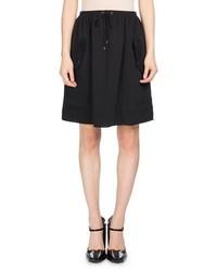 Kenzo Short Jog Style Flare Skirt Black